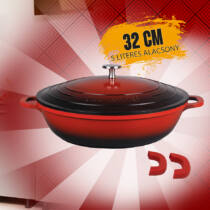 Zurrichberg Premium 32cm márvány bevonatú öntöttvas alacsony lábas ZBP7138