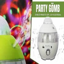 Party gömb, párásítóval, led világítással és hangszóróval