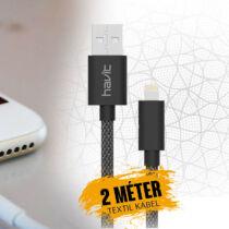 Havit Micro-USB szövet kábel 2m HV-CB728X
