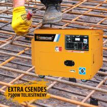 Hoteche extra csendes dízel generátor hegesztő funkcióval 7,5kW