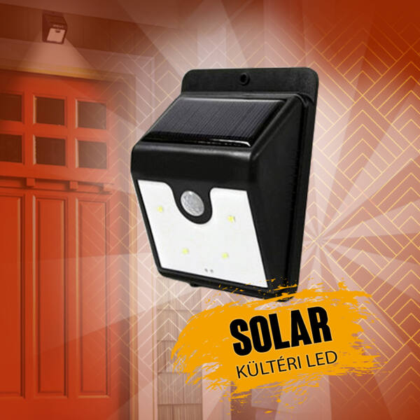 Ever Brite napelemes kültéri LED világítás mozgásérzékelővel