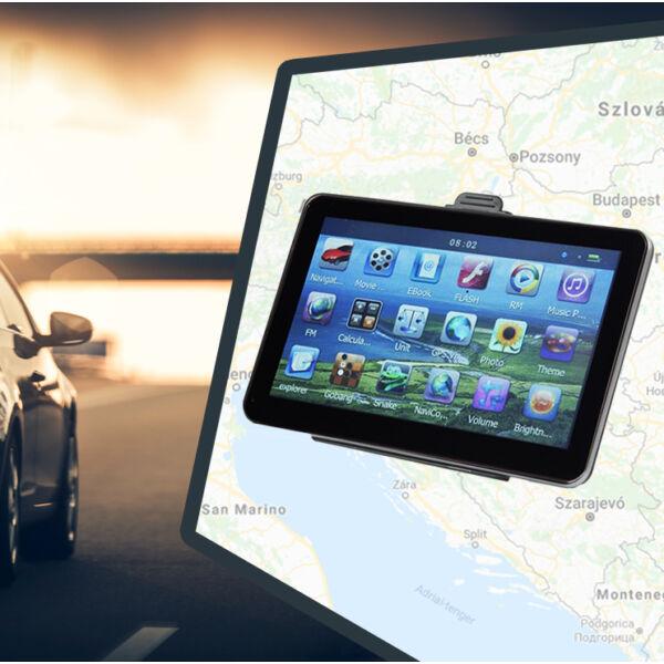 GPS navigáció 7 colos kijelzővel