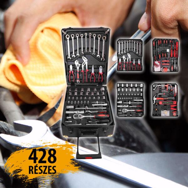 Kraft 428 részes szerszámkészlet kofferben KFHT1006